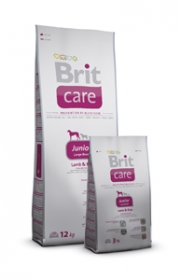 BRIT CARE SUPERPREMIUM JUNIOR LARGE BREED Lamb & Rice КУЧЕ  1кг.
