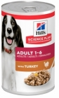 Консерва HILLS SCIENCE PLAN ADULT TURKEY за кучета над 12 м с пуйка, 370 g